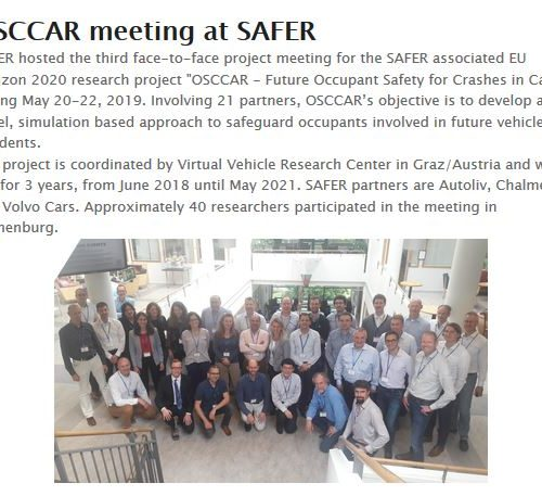 OSCCAR @ SAFER Newsletter